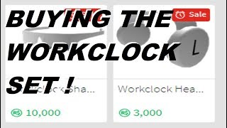 Roblox Acheter les nuances de l'horloge de travail et des écouteurs Workclock!