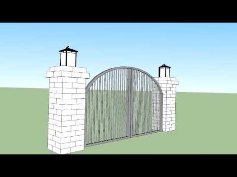 Olde english columns with driveway gate v2 youtube olde english columns with driveway gate v2 solutioingenieria Images