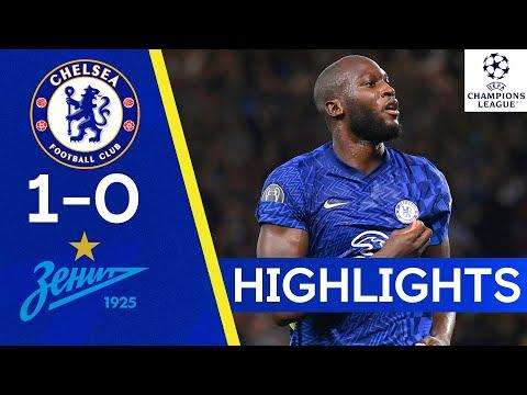 Chelsea 1-0 Zenit Saint Petersburg |  Lukaku is the winner of The Blues |  Champions League