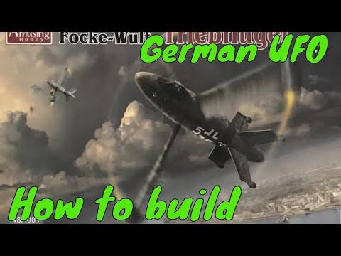 "Building The Amusing Hobby 1/48 Focke-Wulf Triebflügel German ""1946"" airplane model"
