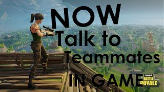 Fortnite - Voice Chat or Talk to Teammates in Game Without Discord & Spectate Teammates after dying