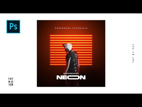 How To Create Neon Portrait Cover Art Design In Photoshop - Photoshop Tutorials