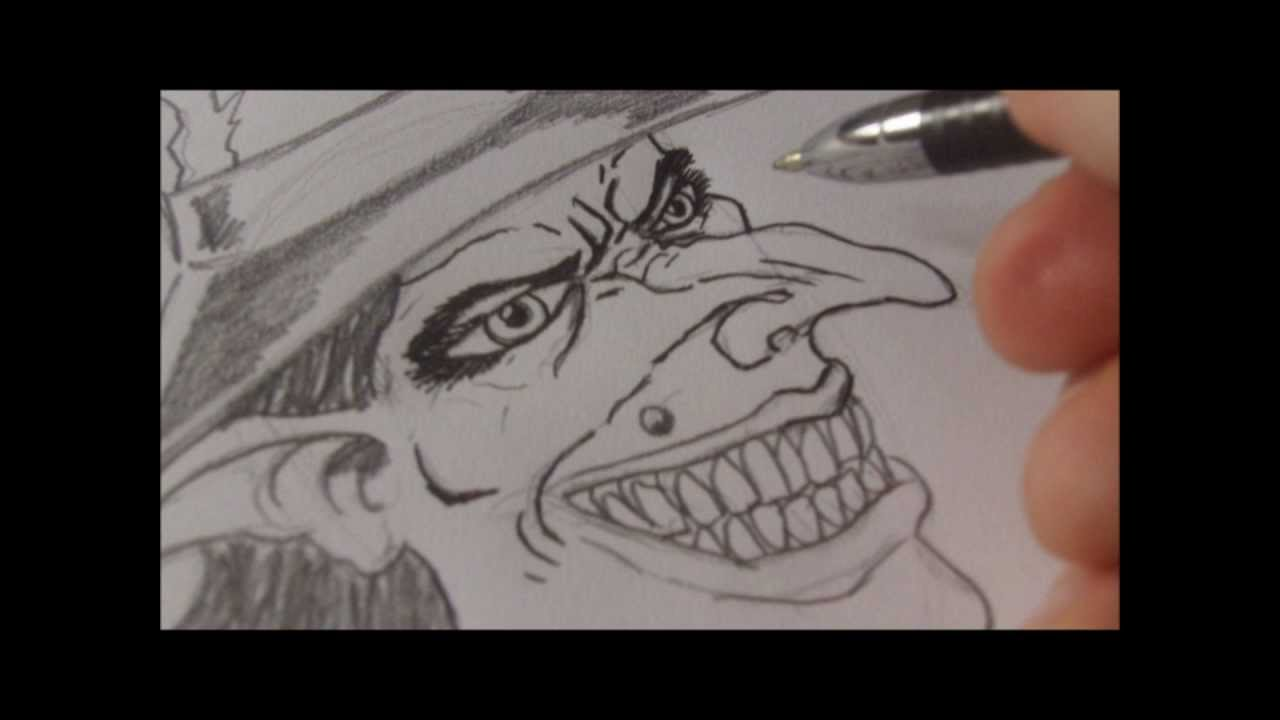 How To Draw Wicked Witch Face - YouTube