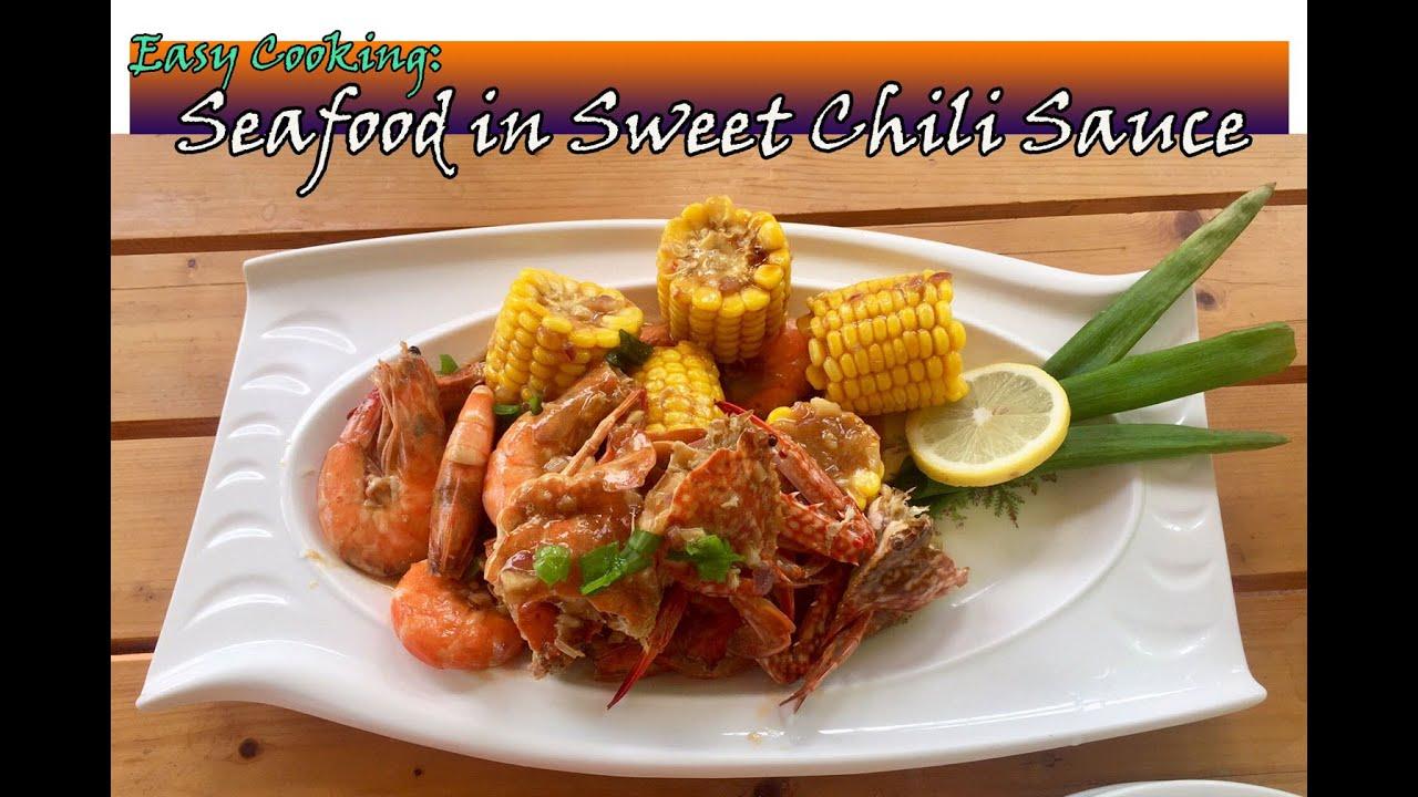 Seafood In Sweet Chili Sauce Lutong Pangnegosyo Youtube