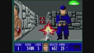 286 TURBO Build Boot Sequence + Wolfenstein 3D - VGA Scaler + VGA Capture Test