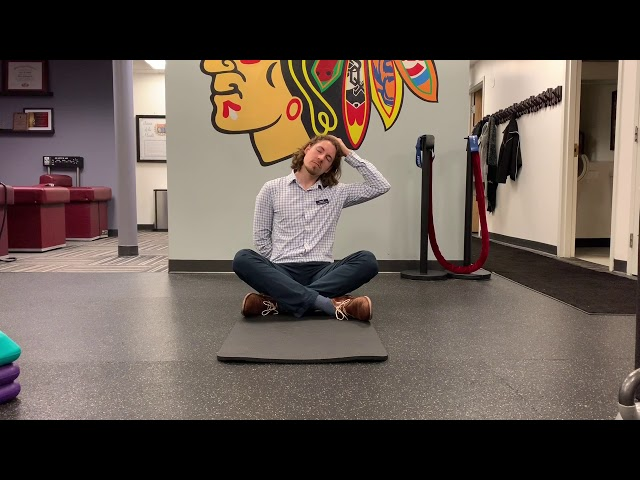 Seated Lateral Neck Stretch