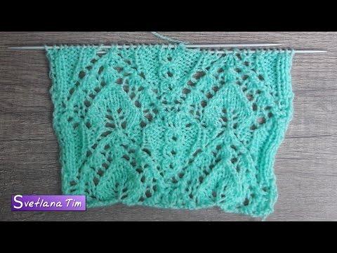 узор ажур вязание схемы