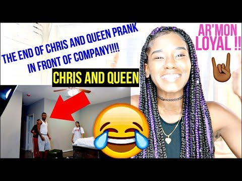The End Of Chris And Queen Prank In Front Of Company!!!! REACTION !!! | LACY'S FILES