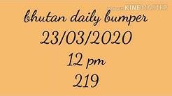 23/03/2020 bhutan daily bumper guessing 7 pm