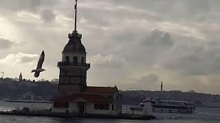 İSTANBUL-ÜSKÜDAR-KIZ KULESİ VE SAHİL MANZARASI