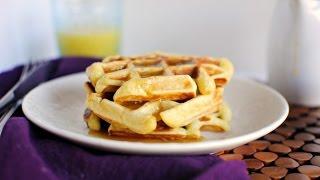 Honey Buttermilk Waffles + Vanilla Maple Syrup