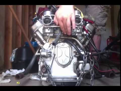 Honda CX500 Engine With Straight Pipe - YouTube
