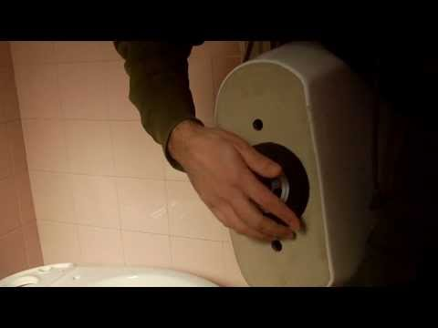 Τοποθέτηση καζανάκι. How to install a toilet tank.