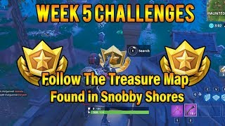 Follow The Treasure Map found in Snobby Shores (HARD) Week 5 Fortnite Challenges