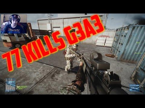 (77 KILLS - G3A3) Battlefield 3: TDM - Kharg Island W/ Live Commentary