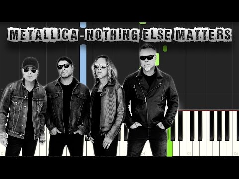 Metallica - Nothing Else Matters - Piano Tutorial Synthesia (Download MIDI)