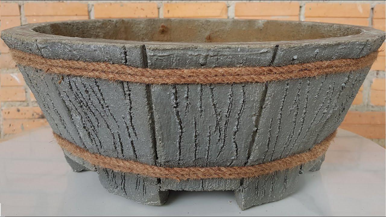 Làm chậu xi măng bằng phương pháp ghép vách-Making cement pots by the method of wall pairing