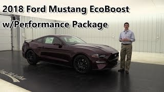 2018 FORD MUSTANG ECOBOOST WITH PERFORMANCE PACKAGE 18049