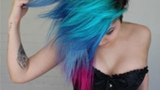 How I Did My Turquoise, Blue, Purple, Pink Hair (My Little Pwnie!)
