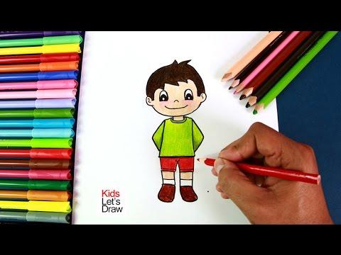 Cómo dibujar un Niño paso a paso (fácil) | How to Draw a Cute Boy ...