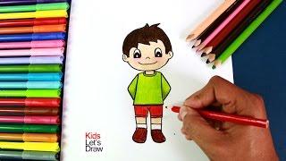 Cómo dibujar un Niño paso a paso (fácil) | How to Draw a Cute Boy Easy