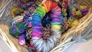 """""""Rainbow Loom"""" или браслеты из резинок. Разнообразные резинки. Обзор №4."""
