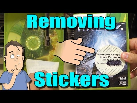 Removing Stickers From Video Game Boxes & Cartridges - #JerryRigged