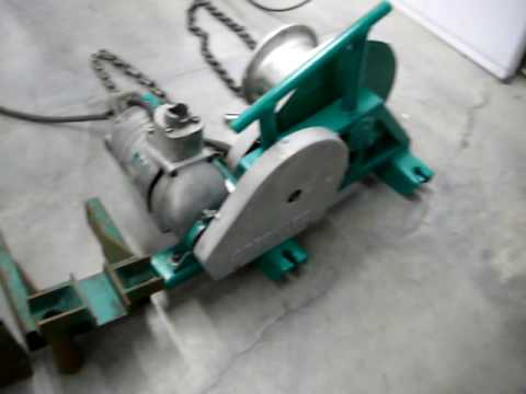 Greenlee 640 Tugger, older unit - YouTube