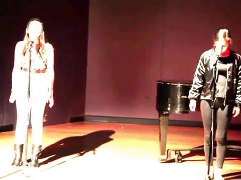 Maya Kharem and Ginger Sakarya performing Feeling Good