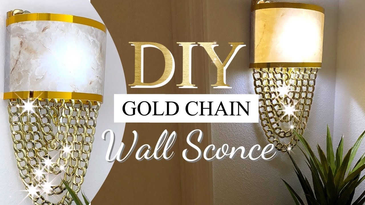 Download GOLD Chain Sconce  DIY WALL Lighting IDEA