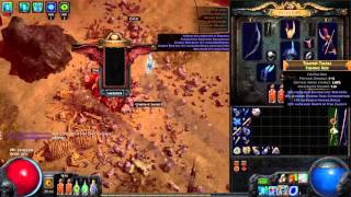 Path of Exile - Sacrificing 6 Fishing Rods in Darkshrine (nothing special happened)