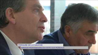 Primaire de la gauche : Arnaud Montebourg était aux Mureaux