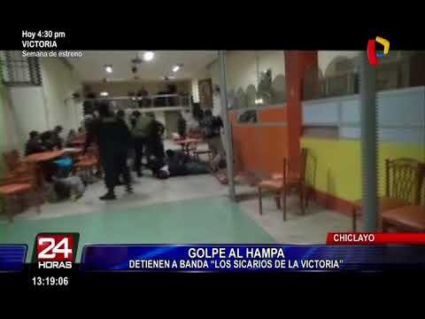 """Chiclayo: capturan 5 integrantes de la banda """"Los sicarios de La Victoria"""""""