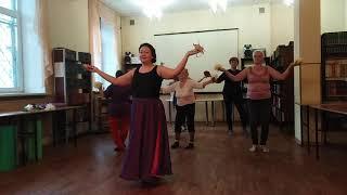 Танец с цветами. Библиотека. 4 и 11 октября