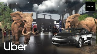 Uber Augmented Reality Experience at Zurich main station