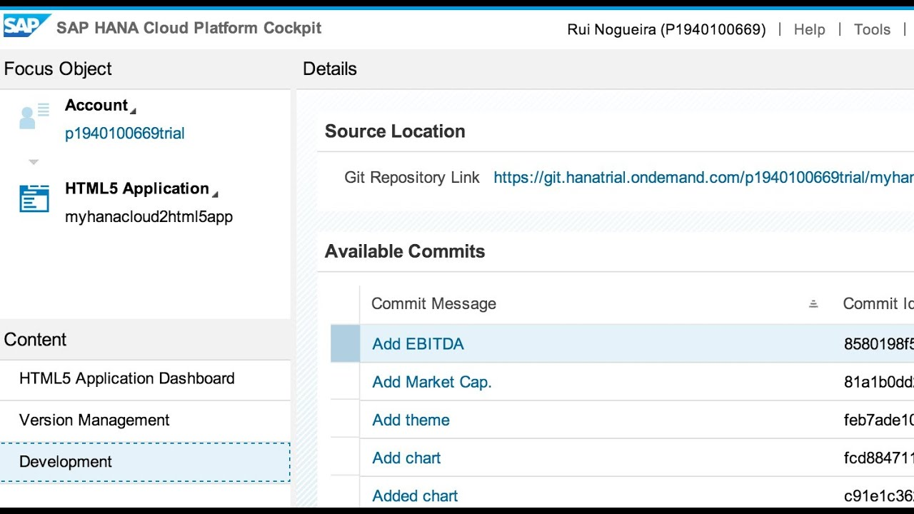 HTML5 Apps on SAP HANA Cloud Platform