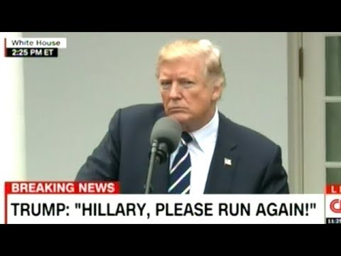 """""""HILLARY PLEASE RUN AGAIN!"""" President Trump Press Conference With Mitch McConnell"""