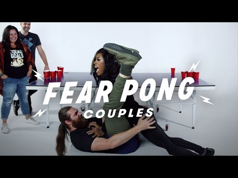 Couples Play Fear Pong (Georgina & Machias vs. Ava & Joshuah) | Fear Pong | Cut