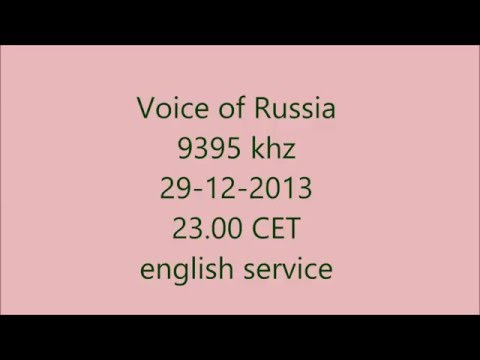 Voice of Russia on 29-12-2013 at  23:00 CET on 9395 khz in english