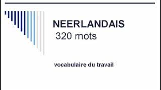 Apprendre le néerlandais - 320 mots de vocabulaire du travail