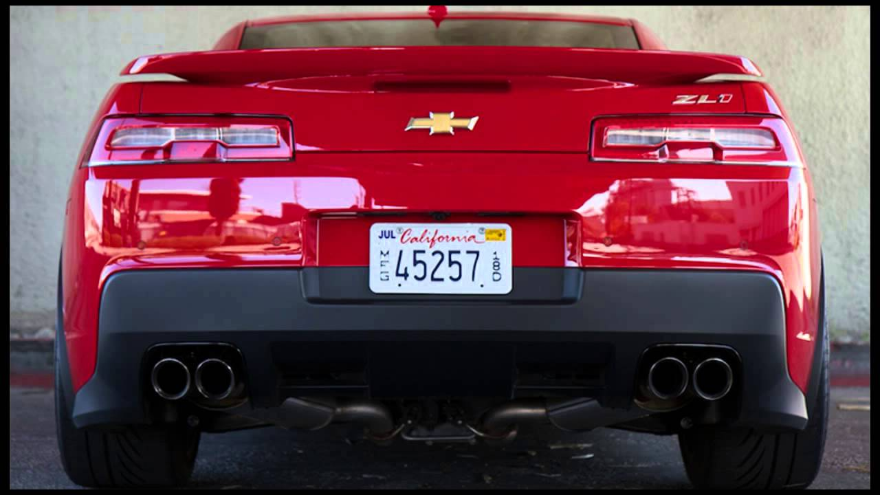 2015 Camaro Zl1 Exhaust Sound Youtube