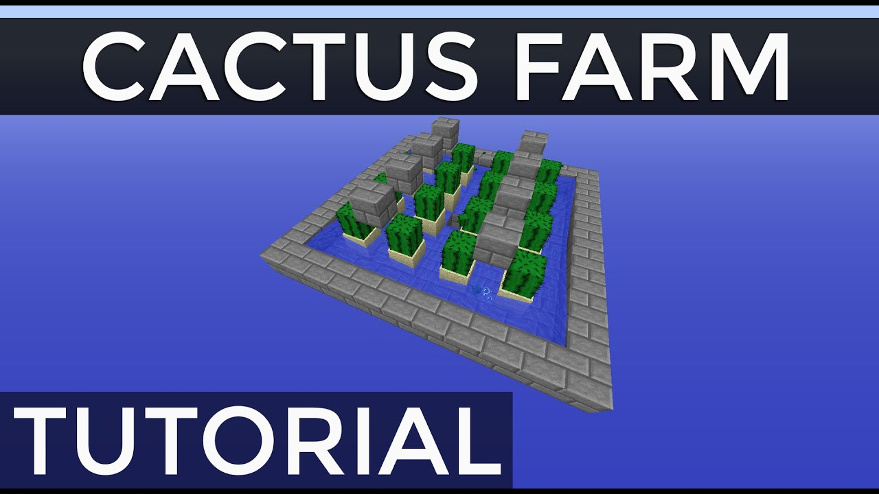 Fully Automatic Stackable Cactus Farm in Minecraft Tutorial - YouTube