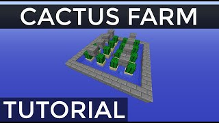 Fully Automatic Stackable Cactus Farm in Minecraft [Tutorial]