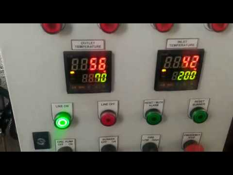 Thermal Oil heater - Test running at ship instalation