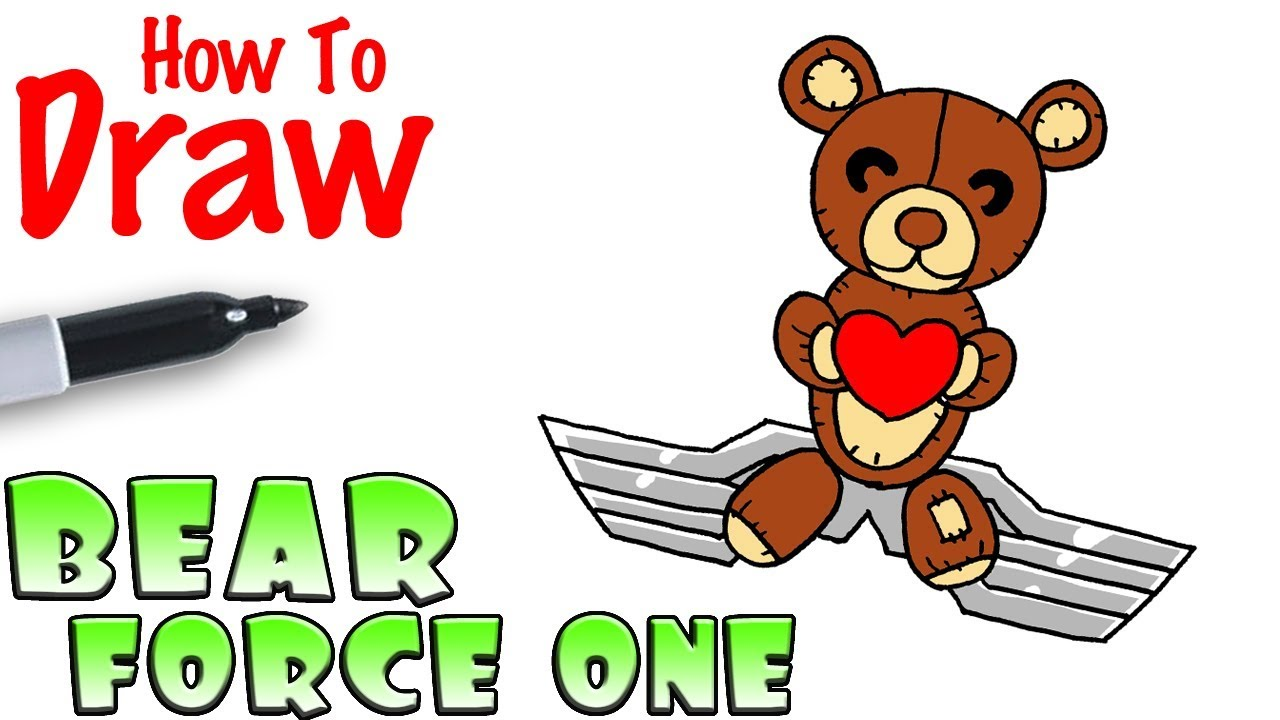 How to Draw Bear Force One Glider | Fortnite #1