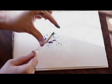 Paper & Watercolor Splatter Crafts : Drawing & Art