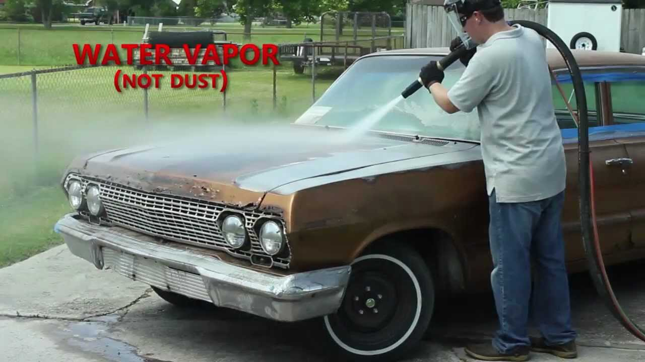 Dustless Blasting Strips A 63 Impala In Under 1 Hour