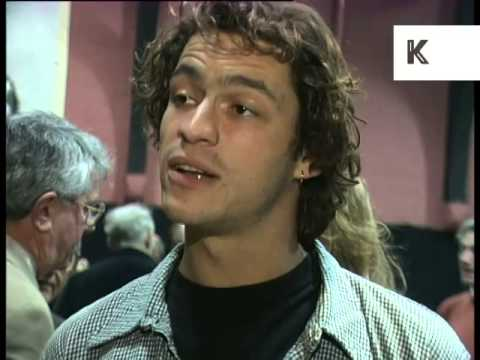 1996 Interview Dominic West at Theatre Party, Rare 1990s Archive Footage