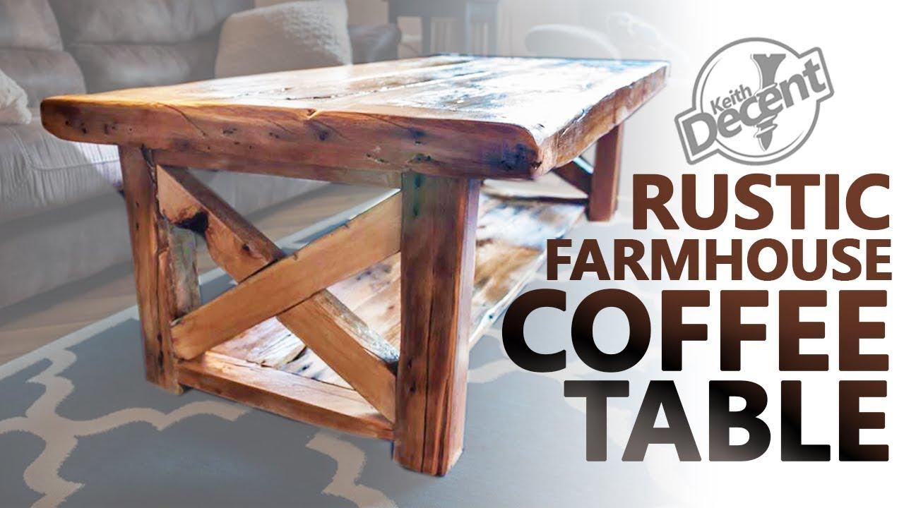 Diy Reclaimed Farmhouse Coffee Table A Decent Project