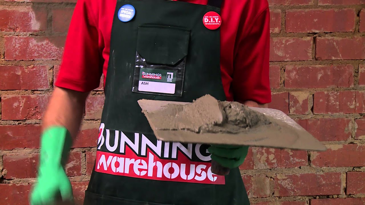 Fake Brick Wall Bunnings How To Hard Plaster A Brick Wall Diy At Bunnings